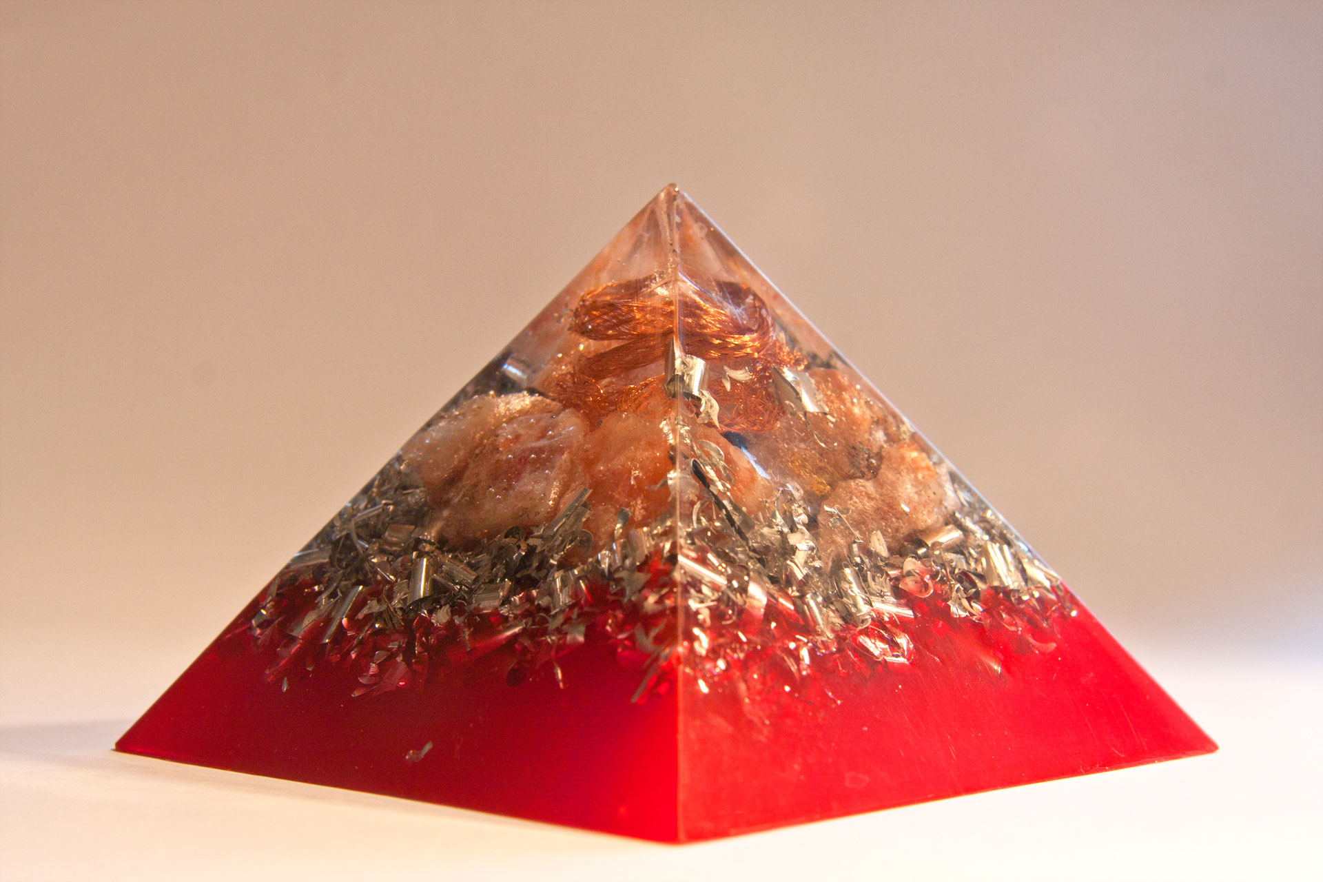 Large Orgone Pyramids with Aluminium