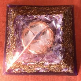 Large Orgone Pyramids with Brass
